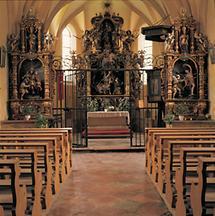 Kircheninneres von St. Georgen an der Mattig