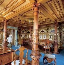 Schiffzimmer im Schloss Miramar bei Triest