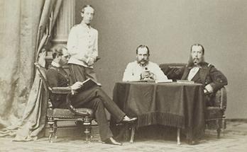Kaiser Franz Joseph I. mit seinen Brüdern