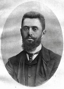 Theodor Herzl im Jahre 1882