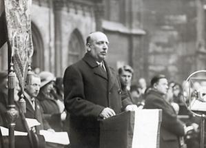 Wilhelm Miklas bei einer Mozartgedenkfeier