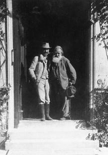 Johannes Brahms und Viktor Miller zu Aichholz