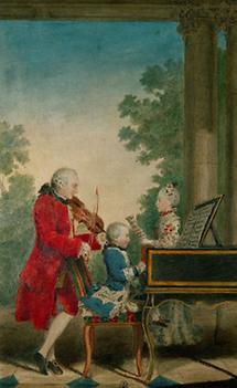 Leopold Mozart mit Wolfgang Amadeus und Nannerl