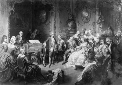 Mozart bei Maria Theresia, © IMAGNO/Austrian Archives
