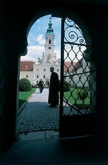 Zugang zum Hof von Stift Altenburg