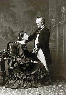 Richard Wagner mit seiner Frau Cosima