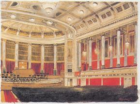 Der große Saal im Wiener Konzerthaus