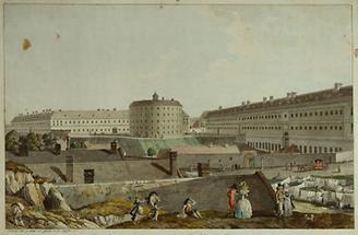 Das Wiener allgemeine Krankenhaus mit dem Narrenturm