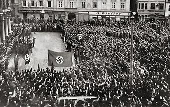 Massenkundgebung der Nationalsozialisten 1938