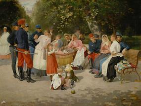 Kindermädchen im Park