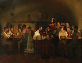 Szene in einem Wiener Pub