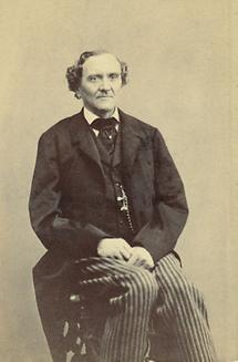 Bildnis Johann Nepomuk Nestroy im Alter von etwa 50 Jahren