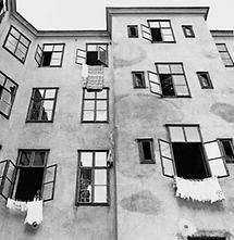 Wien Neubau: Halbgasse Hinterhof