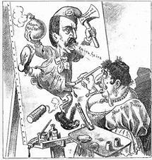 Antisemitsche Karikatur über die Neue Freie Presse