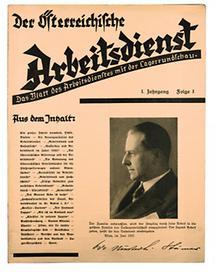 Titelblatt: Der österreichische Arbeitsdienst