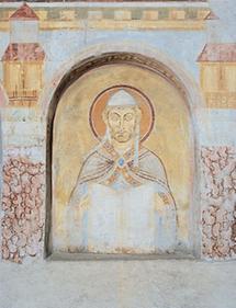 Romanisches Fresko in Nonnberg, Salzburg