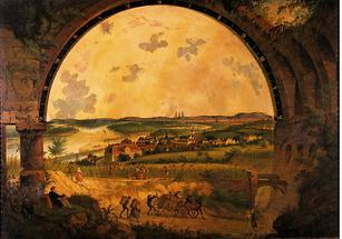 Blick auf das Kahlenbergerdorf und die Stadt Wien
