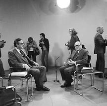 Bruno Kreisky und Josef Taus bei einer TV-Konfrontation