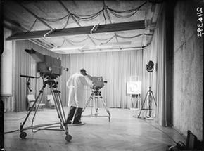 Frühes Fernsehstudio des ORF
