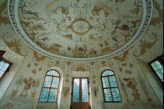 Fresken im Pavillon von Schloss Obersiebenbrunn