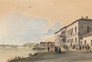 Kaiserbad in Ofen (gegen d. Donau)