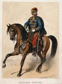 Husaren Offizier des Österreichischen Militärs