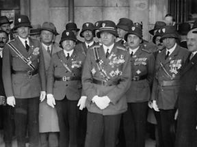 Ungarische Frontkämpfer in Wien