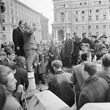Olah-Demonstration im Herbst 1964