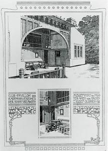 Entwurf für den Club-Pavillon des Radfahrervereins