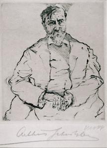 Portraitzeichnung Arthur Schnitzler