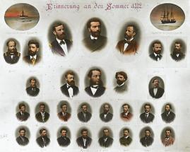 Förderer und Mannschaft der Expedition 1872