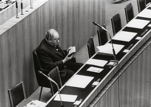 Bruno Kreisky im Parlament