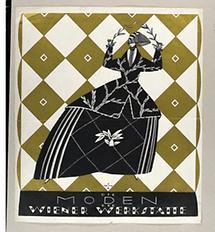 Plakat für die Modeabteilung der Wiener Werkstätte (1)