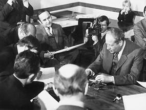 Pressekonferenz mit Bruno Kreisky