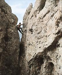 Kaminausstieg im Klettergarten