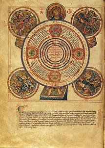 Weltdarstellung aus der Historia Scholastica
