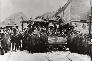 Der letzte Wagen der Wiener Pferdetramway