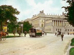 Die Ringstraße mit dem Parlament