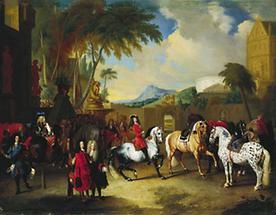 Karl VI. in der kaiserlichen Reitschule