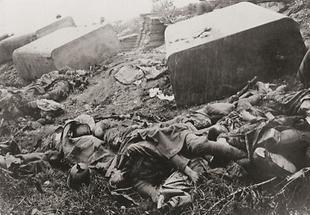 Kämpfe mit vielen toten Soldaten am Piave-Damm