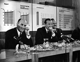 Josef Klaus, Kurt Waldheim und Theodor Piffl-Percevic