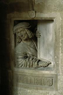 Relief am Fuß der Kanzel des Wiener Stephansdoms