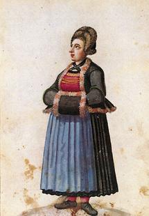 Bäuerin im Winterkleid