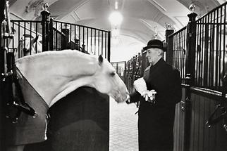 Oberst Podhajsky am Tag seiner Pensionierung