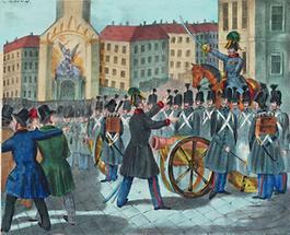 Der Offizier Johann Pollet verweigert den Befehl