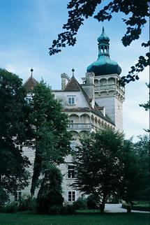 Seitenansicht von Schloss Pottenbrunn