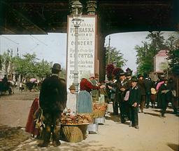 Esswarenverkäufer auf der Zufahrt zum Volksprater