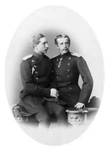 Die Kronprinzen Wilhelm und Rudolf