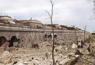 Beschießung des Forts der galizischen Stadt Przemysl