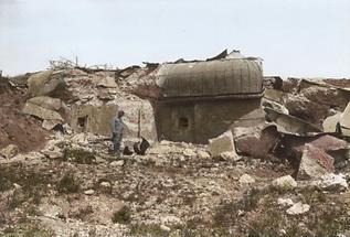 Zerstörung des Forts der galizischen Stadt Przemysl
